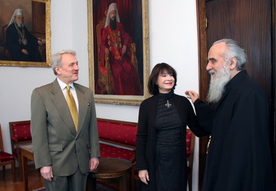 Кнегиња Јелисавета и Драган Бабић у посети Патријарху српском Иринеју